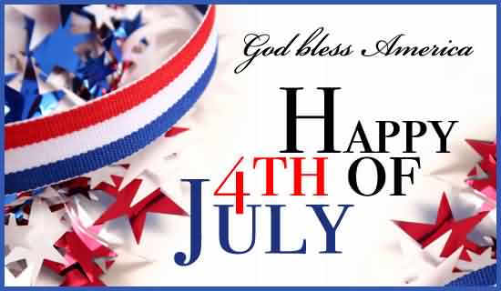Wishing You Happy 4th July Greetings Card Message