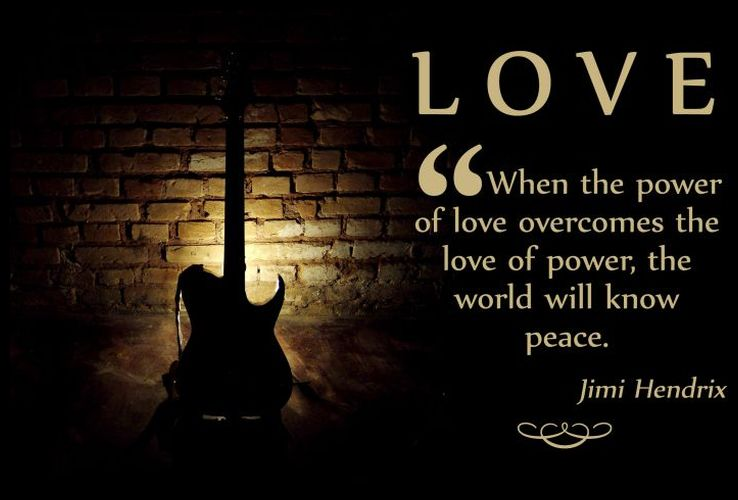 World Music Day Love Quotes By Jimi Hendrix Image