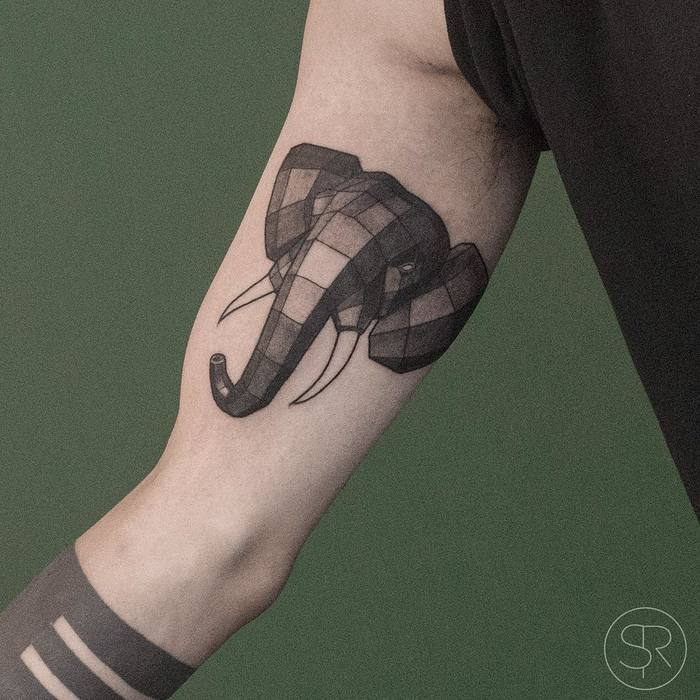 05 Geometric Animal Tattoos By Sven Rayen