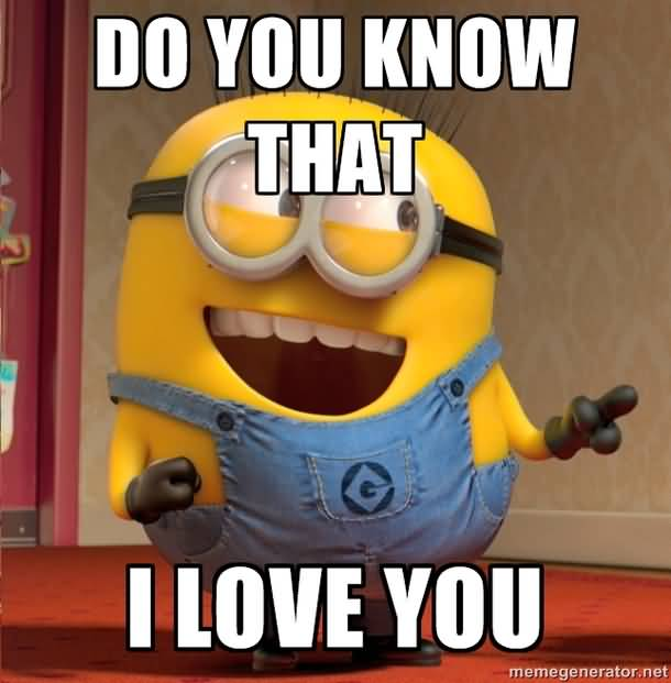 Cute Minion Love Meme Image