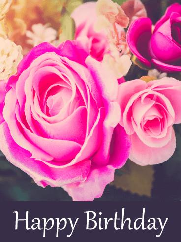 Birthday Flower Greetings Card 17