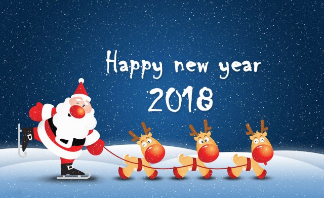 Happy New Year Greetings Card Design Img