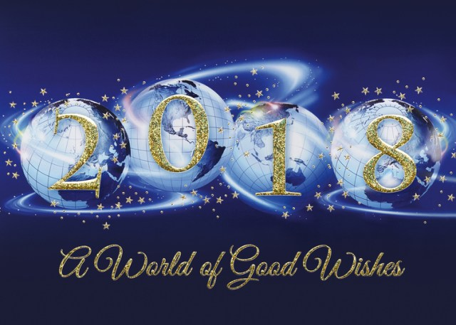 Happy New Year Greetings Card Design