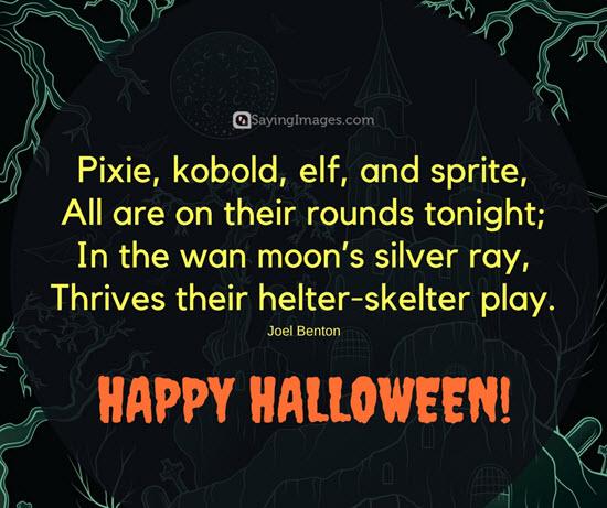 Lovely happy halloween sayings