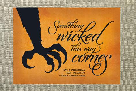 Wonderful something wicked halloween card