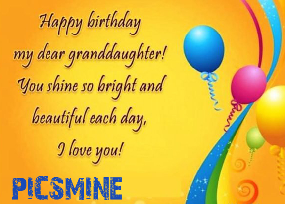 Happy birthday my dear granddaughter Happy Birthday To My Granddaughter