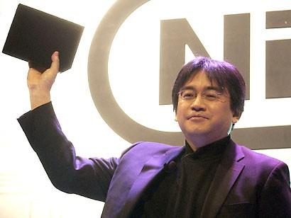 "The late Satoru Iwata during the ""Revolution"" reveal."