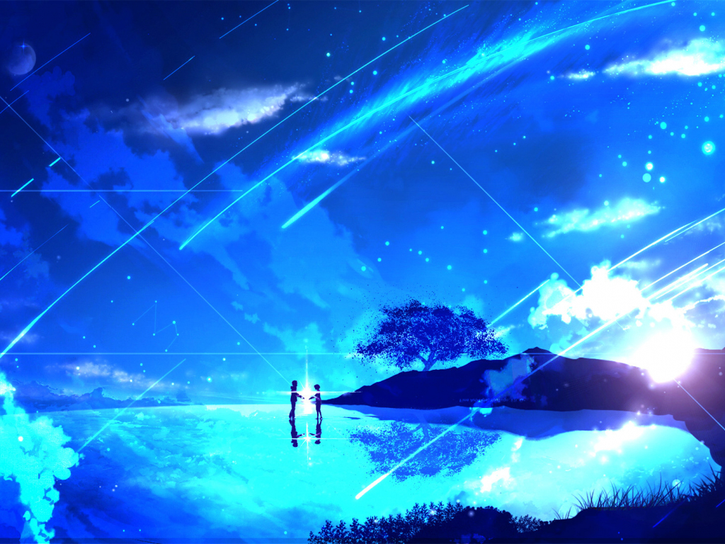 Best Cute Couples Hd Wallpapers Desktop Wallpaper Couple Anime Girl Night Kimi No Na Wa