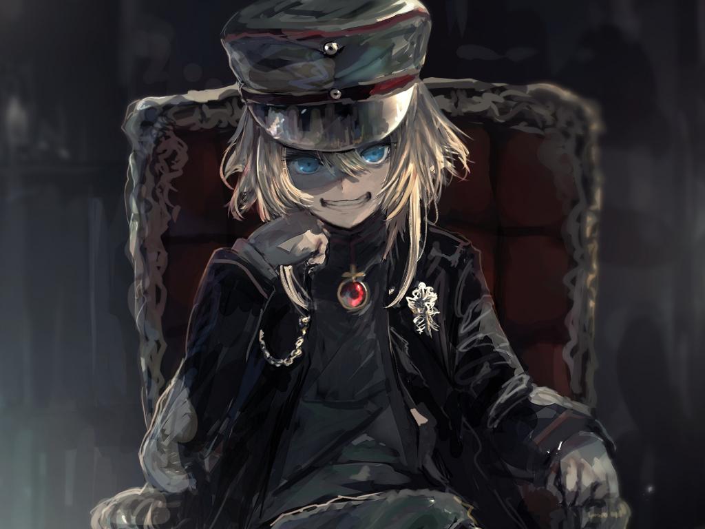 Evil Anime Girl Wallpaper Desktop Wallpaper Anime Art Aime Girl Tanya Degurechaff