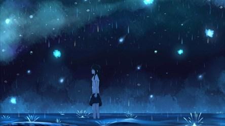 anime rain outdoor 1080p background fhd