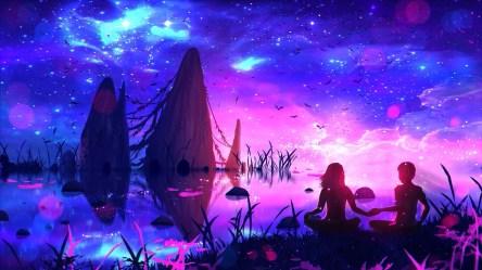 anime couple night hd pc wallpapers intoxianime desktop backgrounds deviantart i8 1080p fhd ryky hdtv dezembro arte picstatio artigo almeida