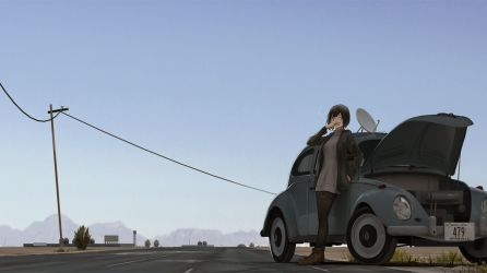 anime road outdoor background desktop hd
