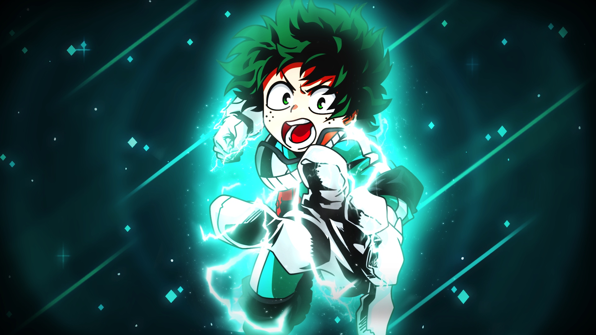 Some of us work at our computers for many hours during the day and night, but there's no reason you can't bring a little fun and charm to your desk by personalizing your computer's wallpaper. Desktop Wallpaper Izuku Midoriya, Green Hair, Angry, Anime ...