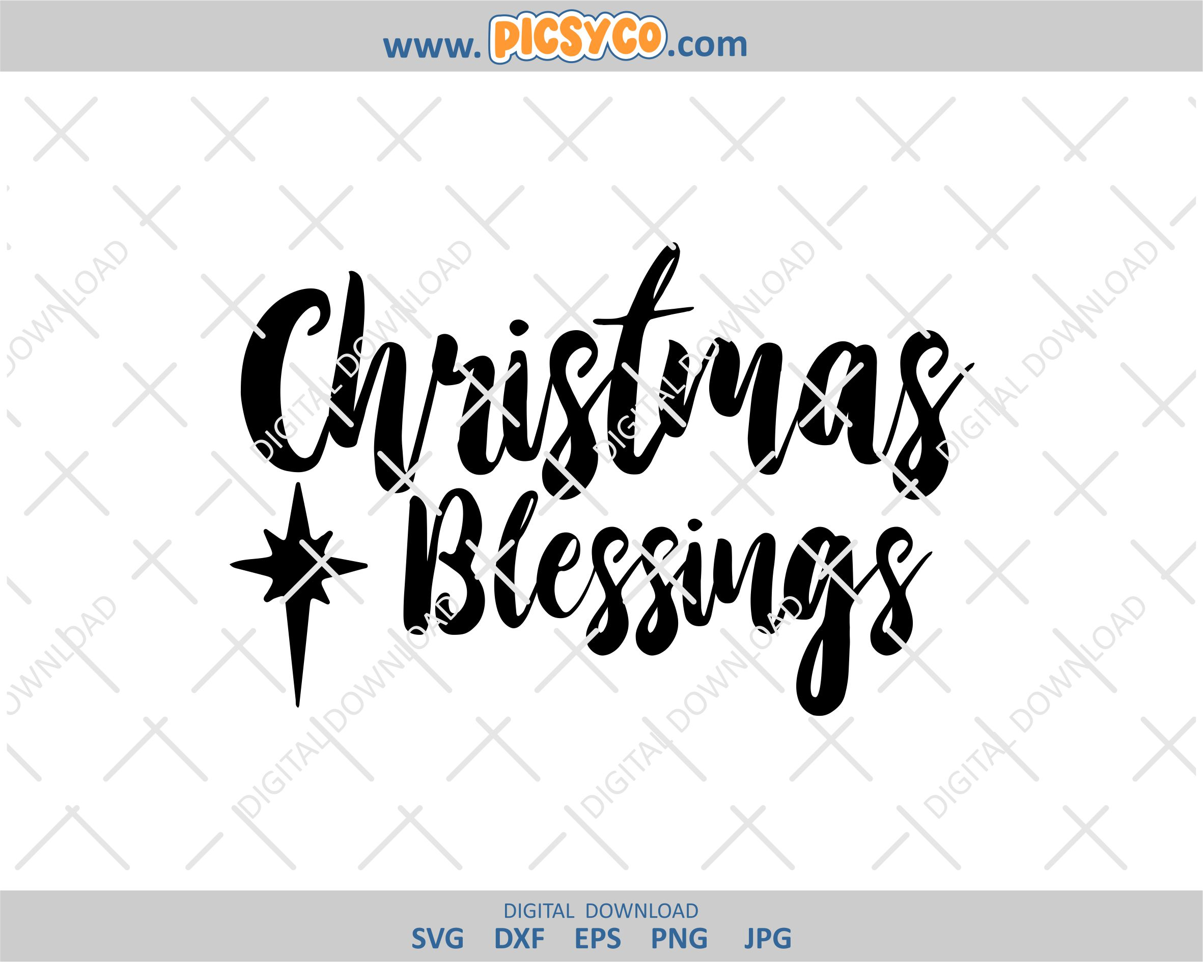 Christmas Blessings SVG, svg free files download