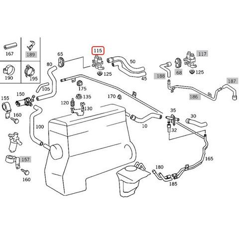 ACM製 ベンツ ヒーターバルブ/ウォーターバルブ < ベンツパーツ専門プロテックオートショップ