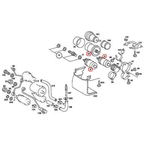 ベンツ 燃料ポンプ&燃料フィルター 3点セット < ベンツパーツ専門プロテックオートショップ