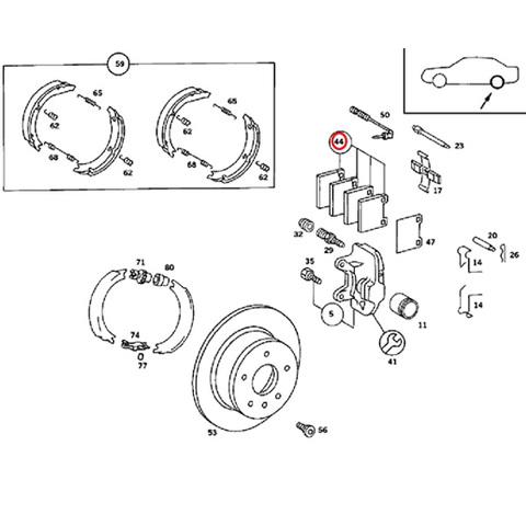 BOSCH製 ベンツ リア/リヤ ブレーキパッド 左右セット < ベンツパーツ専門プロテックオートショップ
