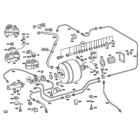 ベンツ ブレーキマスターシリンダー < ベンツパーツ専門プロテックオートショップ