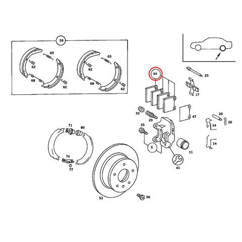 OPparts製 リア/リヤ ブレーキパッド < ベンツパーツ専門プロテックオートショップ