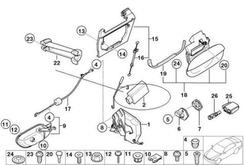 ドアロックアクチュエーター ドアロックモーター < BMWパーツ専門プロテックオートショップ