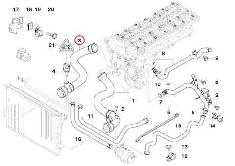 BMW E39 ラジエーターホース/ロアホース 11531705224 E39 520i 523i 525i