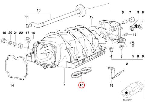 BMW E31 E32 E34 E38 E39 X5 M60 M62 V8 エンジン用 インテークマニホールド