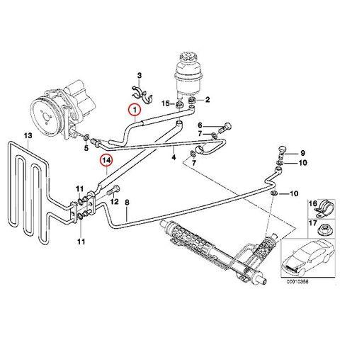 パワステアリングホース/リターンホース < BMWパーツ専門プロテックオートショップ
