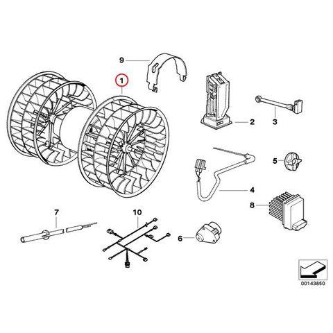 エアコン ブロアモーター/ブロアファン < BMWパーツ専門プロテックオートショップ