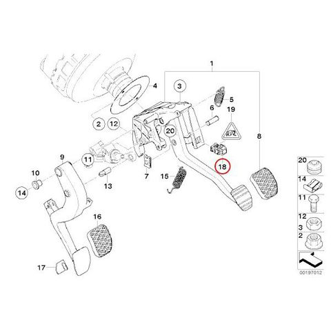 febi bilstein製 ブレーキストップランプスイッチ < BMWパーツ専門プロテックオートショップ