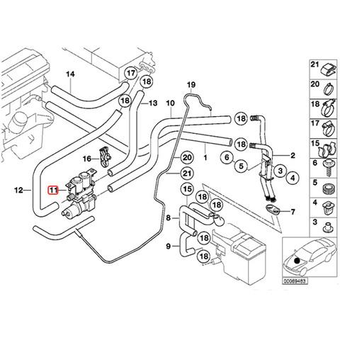 BMW ウォーターバルブ ウォーターバルブ < BMWパーツ専門プロテックオートショップ
