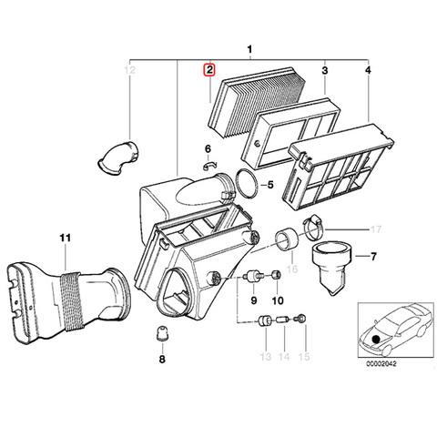 エアフィルター エアエレメント < BMWパーツ専門プロテックオートショップ