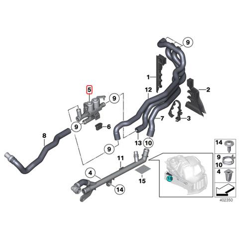 BMW ヒーターバルブ/ウォーターバルブ < BMWパーツ専門プロテックオートショップ