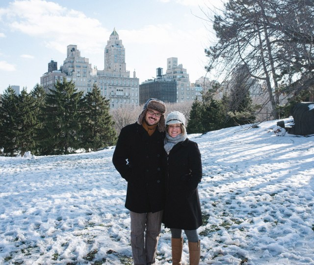 Central Park With Manhattan In The Background Christmas In New York