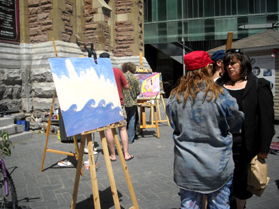 Christine et une amateure d\'art