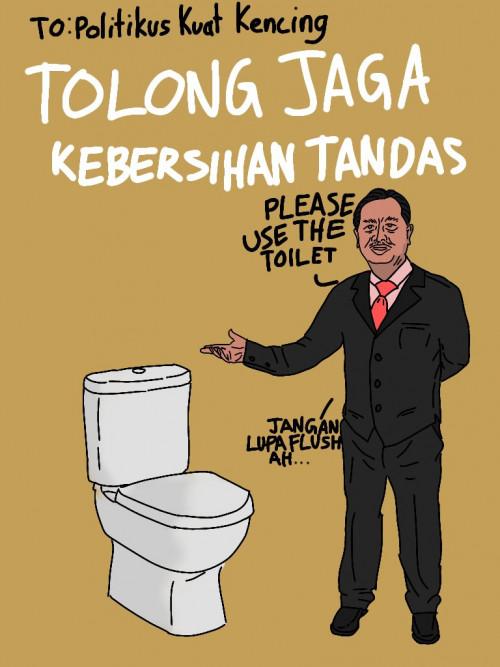 Jagalah Kebersihan Toilet : jagalah, kebersihan, toilet, Poster, Kebersihan, Toilet, Sketsa