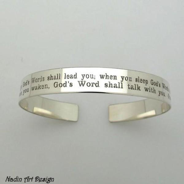 Jewels custom bracelet engraved bracelet gift ideas fashion bracelet sterling silver cuff