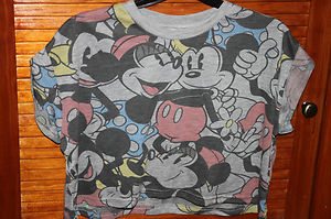 cheap kitchen tables and chairs remodeling st louis primark retro mickey minnie mouse disney t shirt crop top ...