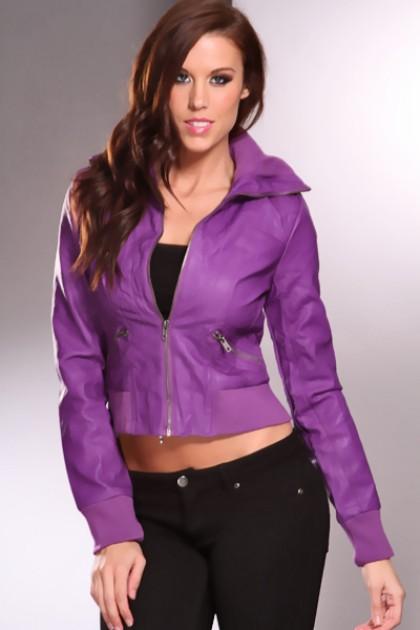 purple leather dresses fashion