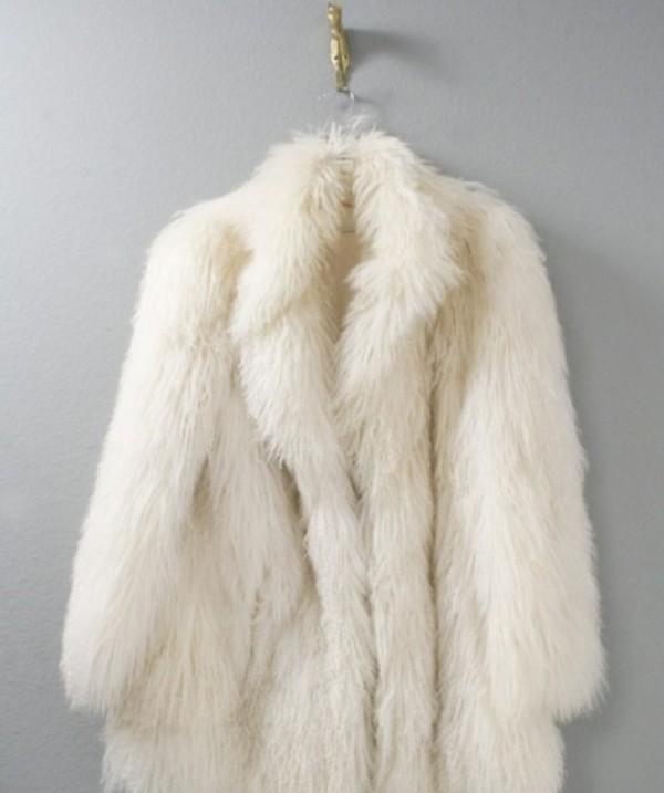 Macrotrichia Outerwear Long Style Fox Fur White Fur Coat