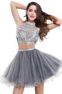 Amazon.com: MisShow Women's Two Pieces Short Prom Dress ...