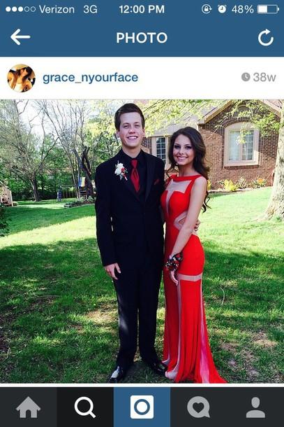 dress prom dress red dress scandalous  Wheretoget