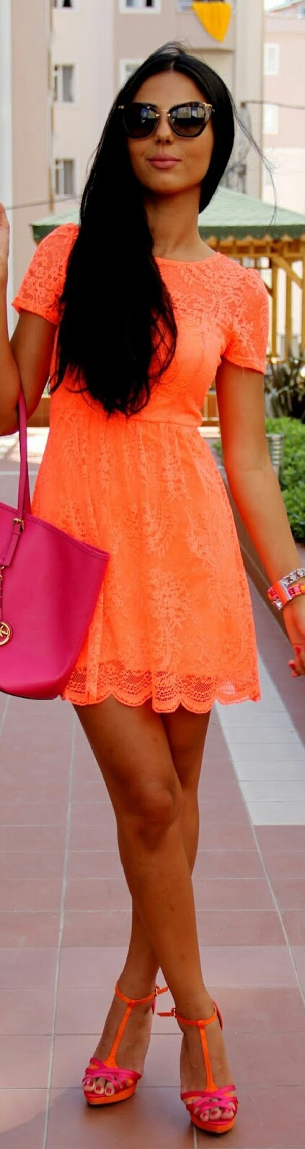 orange sofas ebay contemporary leather sofa and chair look topshop neon fluro lace flippy dress 6/8/10/12 ...