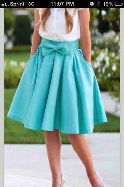 Skirt Blue High Waist Midi Skirt Light Blue Cute Skirt