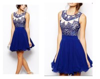 party dress, blue dress, short prom dress, homecoming ...