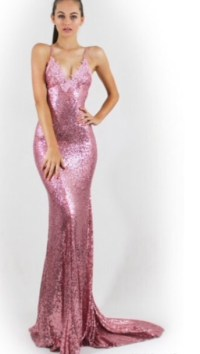 dress, pink dress, pink, sparkly dress, sparkle, prom ...