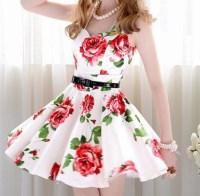 cute, vintage, floral, dress, kawaii, prom dress, girly ...