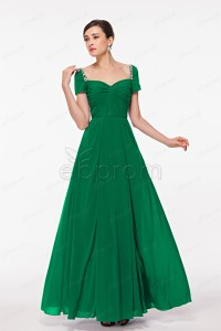 Emerald Green Mother of the Bride Dresses with Short Sleeves