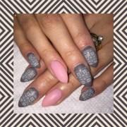 nail polish grey pink and gray