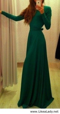 Dress: green dress, winter formal dresses, fall dress ...