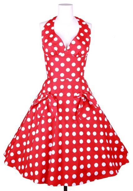 red retro kitchen chairs hanging macrame chair dress: 50s style, polka dots, housewife, rockabilly, vintage, retro, ...
